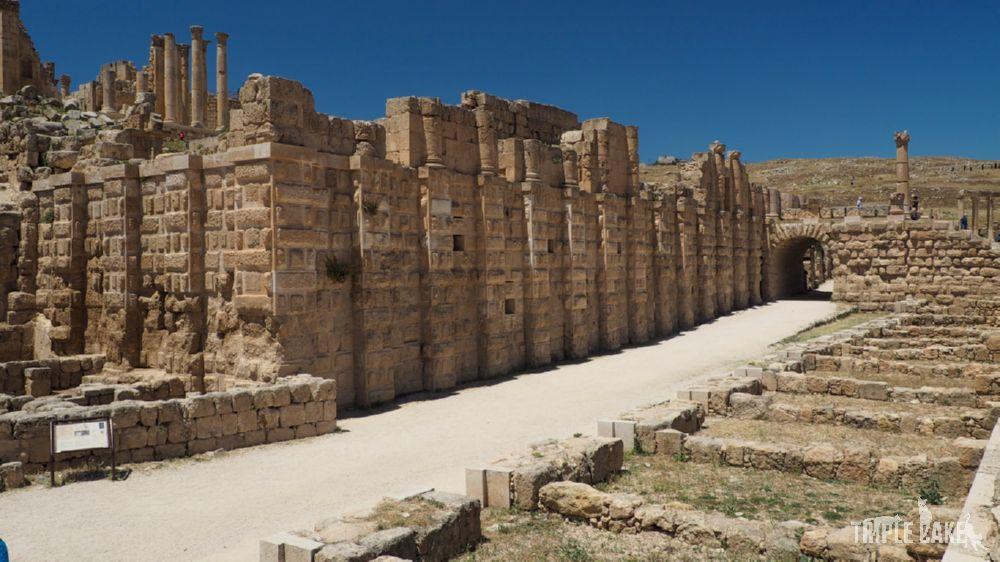 Jerash - wschodni bazar / the east souk