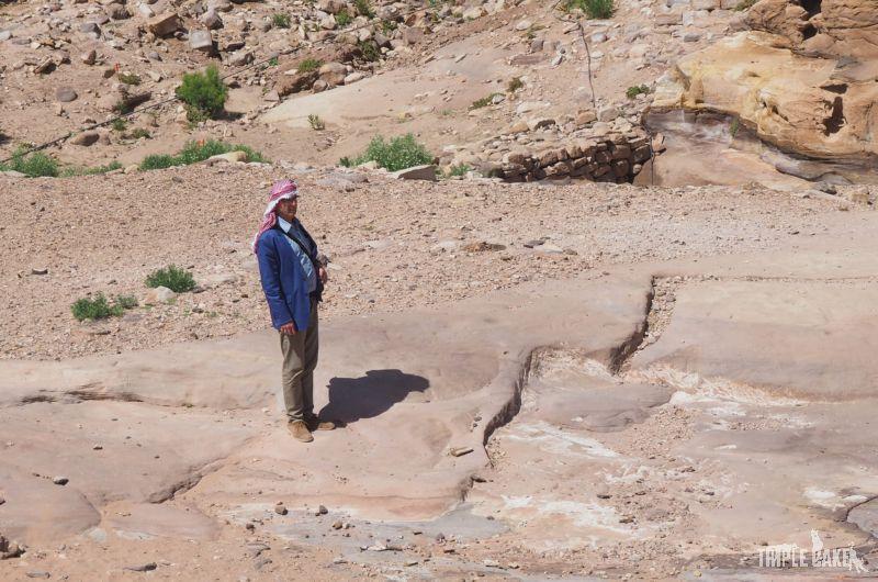 Tourist in Petra / Turysta w Petrze