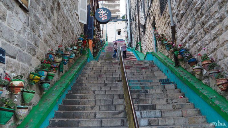 Kolorowe schody w Ammanie / Rainbow stairs