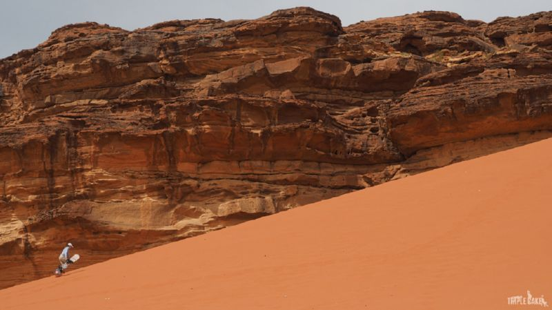 Sandboarding in Wadi Rum, Jordan