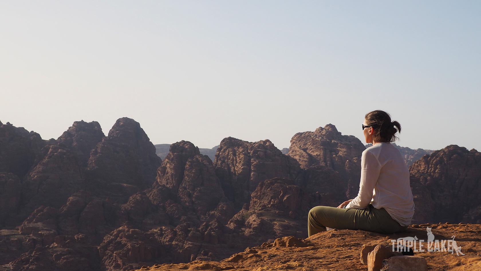 Zachód słońca nad Petrą/ Sunset over Petra