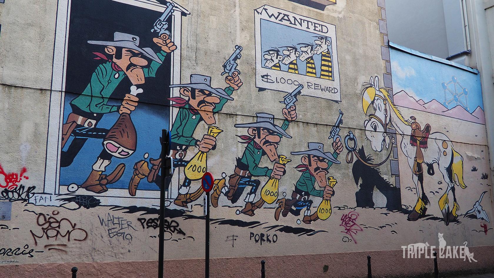 Bruksela, Szlak komiksów - Lucky Luke