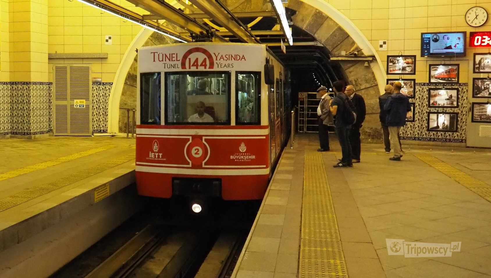Tünel - najstarsza kolej podziemna (metro) w Turcji