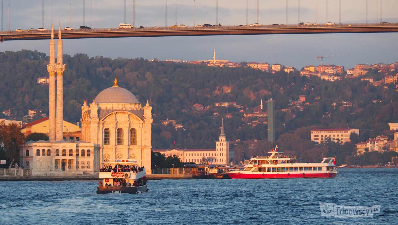 Meczet Ortaköy, do którego dopłynęliśmy promem